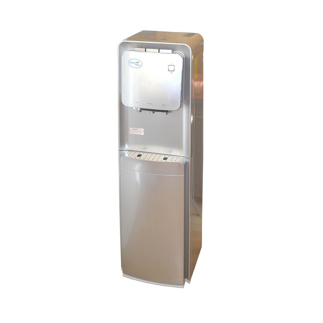 Кулер для воды Aqua Well YLR-1.5-JX-12 A (серебро, с нижней загрузкой бутыли)
