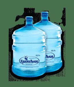 Две бутыли воды Кристальная