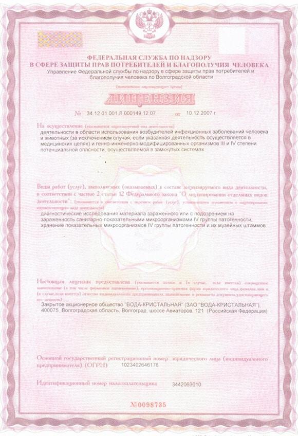 Лицензия документ