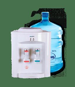 Кулер для воды и бутыль воды
